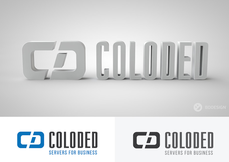 COLODED // servers for business разработка лого